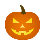 Jack-o-lantern / jack-o-lantern Halloween carved pumpkin flat icon for apps and websites