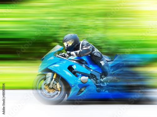 Motorbike racing canvas