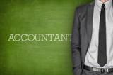 Accountant on blackboard