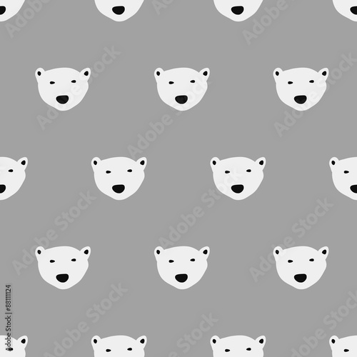 seamless  polar bear pattern - 88111124
