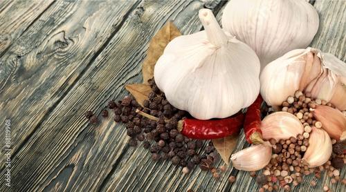 Garlic, Cutting Board, Chopped.