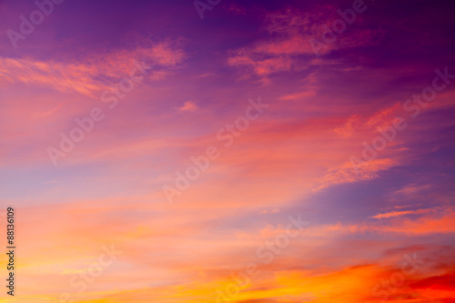 Fototapeta Dramatic cotton candy sky cloud texture background
