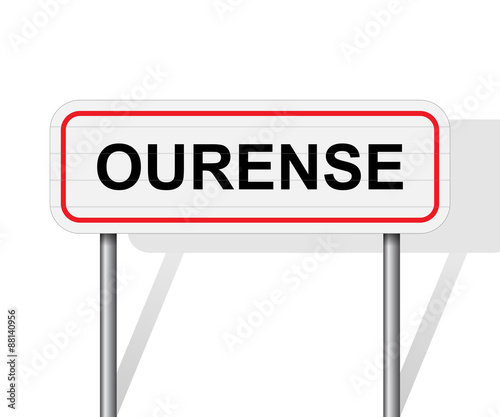 Welcome to Ourense Spain road sign vector