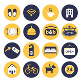 set of icons for hotel service - 88166777