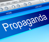 Propaganda concept. poster