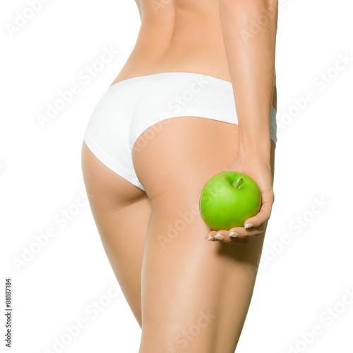 Poster Po mit Apfel