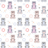 vector seamless pattern toy teddy bears