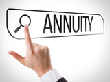Annuity written in search bar on virtual screen poster
