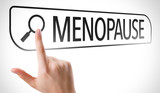 Menopause written in search bar on virtual screen poster