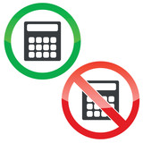 Calculate permission signs set