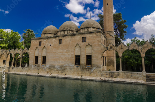 Holy Lake and Halil-ur Rahman Mosque Canvas Print