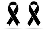 Mourning and melanoma support symbol poster