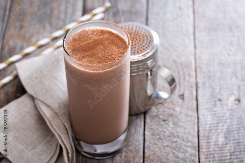 Foto op Aluminium Milkshake Cold chocolate milkshake