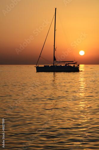 Tramonto sul mare Egeo
