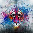 кляксы на стене.фантазия с тигром