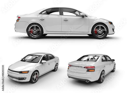 white  car ready to be branded © adimas