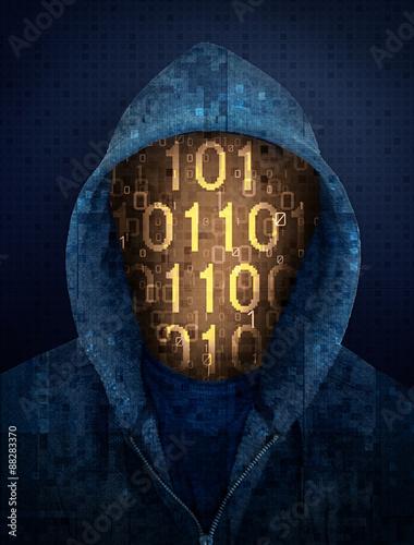Leinwanddruck Bild hacker