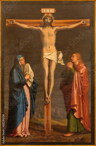Aluminium Jezus Christus Granada - The crucifixion paint from church in Monasterio de la Cartuja