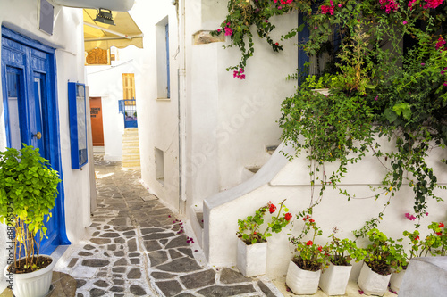 old town on Naxos island, Cyclades, Greece