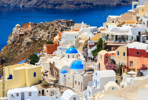 Foto op Canvas beautiful Oia town, amazing Santorini - travel in Greek islands series