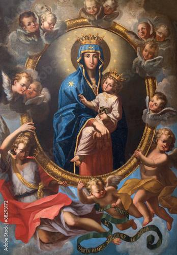 rzym-malowanie-madonny-wsrod-aniolow