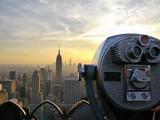 Fototapety Tower viewer telescope binoculars over looking the New York City skyline