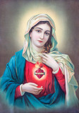 Typical catholic image of heart of Virgin Mary from Slovakia - 88299341
