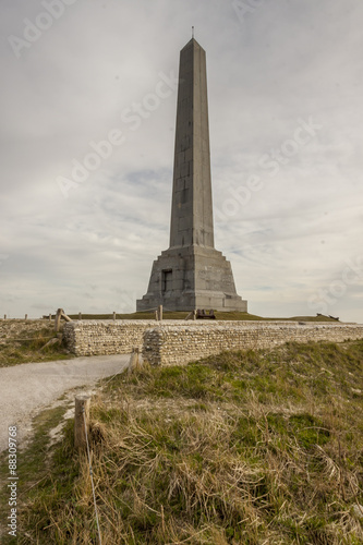 Poster Monument on Cap Blanc Nez - France.