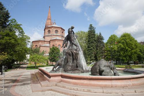 Zdjęcia na płótnie, fototapety na wymiar, obrazy na ścianę : The Deluge Fountain in in Bydgoszcz