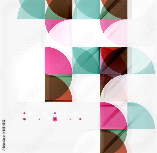 Deurstickers Geometrische dieren Semicircle triangle pattern