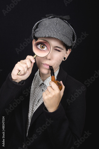 Poster Woman as Sherlock Holmes