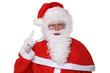 Постер, плакат: Weihnachtsmann Nikolaus hebt den Finger Weihnachten Portrait