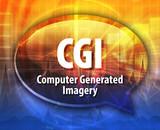 CGI acronym definition speech bubble illustration poster