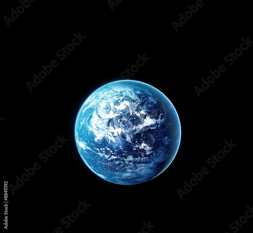 Foto Murales Planet earth with sun rising from space at night, Elements of this image furnished by NASA