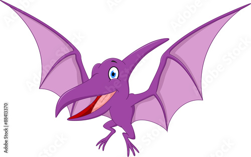 Happy Pterodactyl cartoon