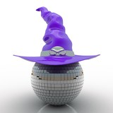 Party ball with witch hat