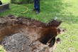 Hole in Ground for Gas Utility Pipe