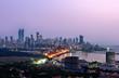 Aerial Mumbai by night