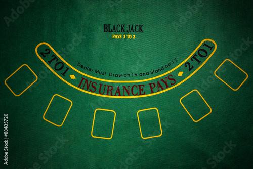 Poster Black Jack gambling table