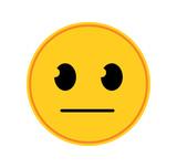 Straight Face Emoticon