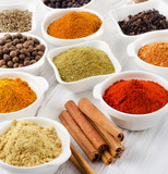 Powder spices in bowls - 88448511