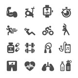 Fototapety healthy and fitness icon set, vector eps10