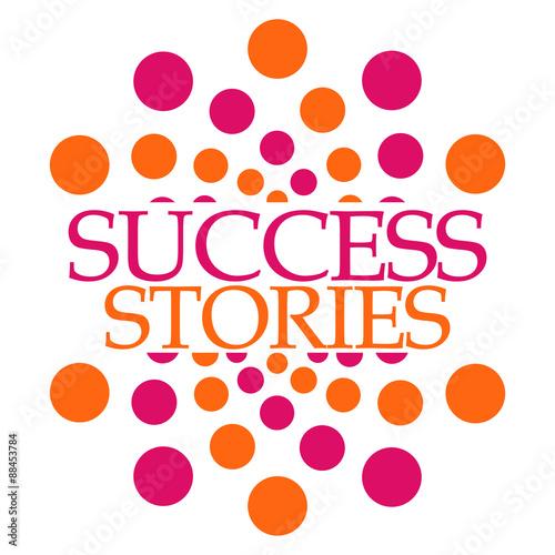 Fototapeta Success Stories Pink Orange Dots