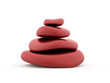 Red pebbles rendered isolated