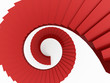 Red spiral stairs concept rendered