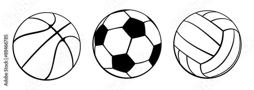 Foto op Aluminium Bol Sport Balls