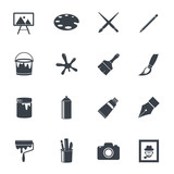 Fototapety Art icons