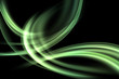 abstract green light wave background