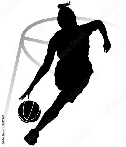 sylwetka-kobieta-koszykarz