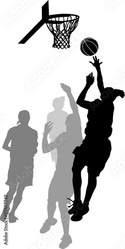 Women's Basketball Layup Poster